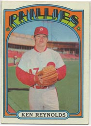 1972 Topps Baseball Cards      252     Ken Reynolds